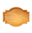 3d wooden signage signboard signpost a vector image