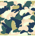 abstract camouflage seamless pattern camo pattern vector image vector image