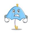 angry blue umbrella character cartoon vector image