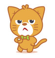 angry cat character style vector image