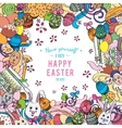 Awesome Happy Easter card in vector image vector image