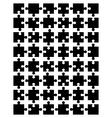 black puzzle 3 vector image vector image