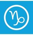 Capricorn sign icon vector image