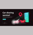 car sharing concept onlintransport service rent vector image vector image