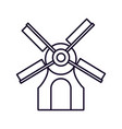 classic barn windmill icon on white background vector image