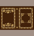 classic book covers decorative vintage frame vector image vector image