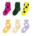 colorful kids socks set vector image vector image