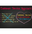 Customer service approach vector image vector image