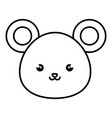 cute and tender mouse kawaii style vector image vector image
