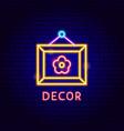 decor neon label vector image