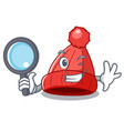 detective homemade funny and warm beanie cartoon vector image