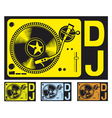 DJ music turntable vector image vector image