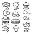 Doodle of food object hand draw vector image vector image