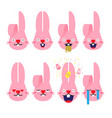 emojisemoji rabbit bunny emotion cartoon vector image vector image