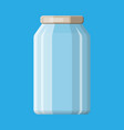 empty glass jar for canning and preserving vector image