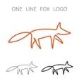 Fox One Line Logo Minimalism Style Logotype vector image vector image