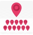 GPS Icons red vector image vector image