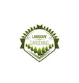 green trees planting icon for landscaping vector image vector image