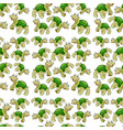 green turtle seamless pattern vector image vector image