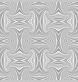 grey hypnotic abstract seamless striped swirl vector image vector image