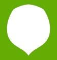 hazelnut icon green vector image vector image