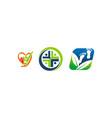 healthy holistic center set vector image vector image