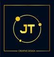 initial letter jt logo template design vector image vector image