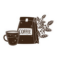 international day coffee package cup vector image vector image