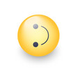 inverted smiley face turned on the side emoticon vector image vector image