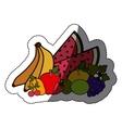 Isolated fruits set design