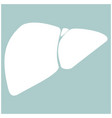 liver the white color icon vector image vector image