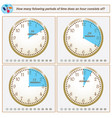 logical task how many folowing periods of time vector image