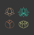 lotus logo design icon set vector image vector image