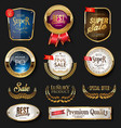 luxury golden badges and labels collection 04 vector image vector image