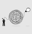 man searching and thinking idea through a vector image