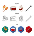 maracas drum scottish bagpipes clarinet vector image vector image