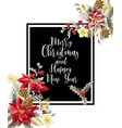 merry christmas poster or banner vector image