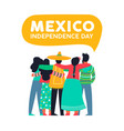 mexico independence day card mexican friends vector image