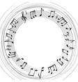 music notes border musical frame background vector image vector image