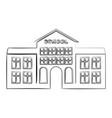 outline school building icon vector image vector image