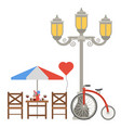 paris icons famous travel cuisine vector image