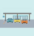 parking zone parking lot design park icon concept vector image