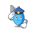 police ambu bag character cartoon vector image