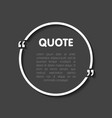 quote bubble blank templates empty business card vector image vector image