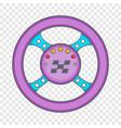 racing rudder icon cartoon style vector image vector image