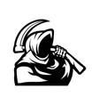 reaper mascot logo silhouette version grim vector image
