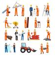 Repairs Construction Builder Set vector image