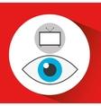 screen tv movie watching vector image