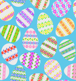 Seamless texture of Easter eggs vector image vector image
