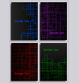 set of abstract technology backgrounds vector image